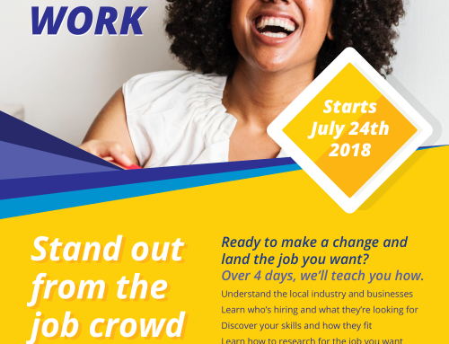 Stand out of the Job crowd training – July 2018