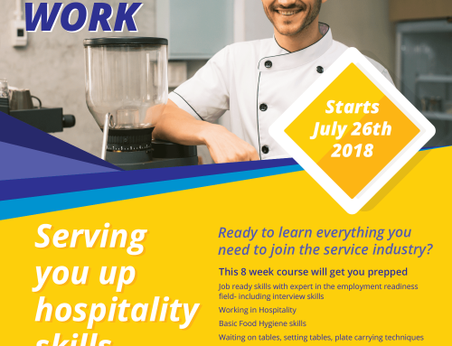 Serving you up hospitality skills – July 2018